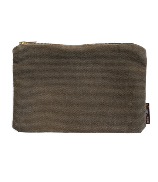 Grey Vintage Canvas Pouch