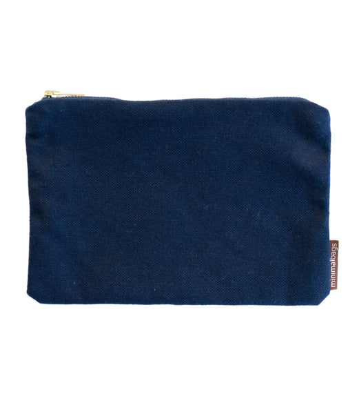 Navy Deluxe Canvas Pouch