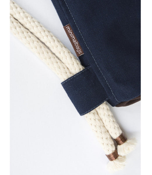 Navy Deluxe Berlin Cotton Canvas Sling Bag Rope