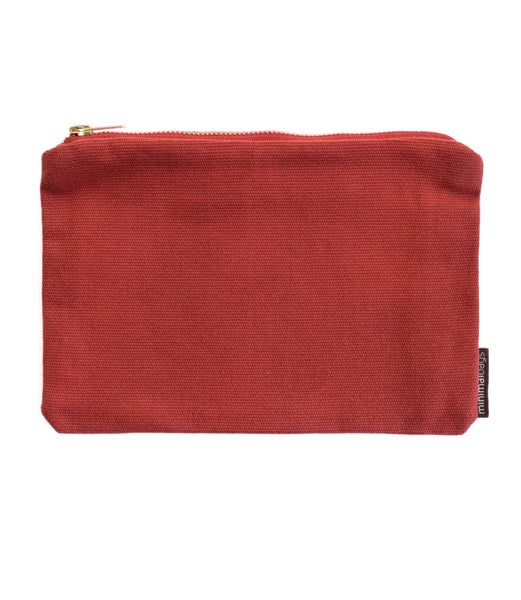 Red Vintage Canvas Pouch