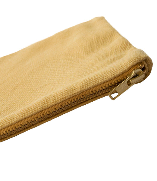 Yellow Vintage Canvas Pouch