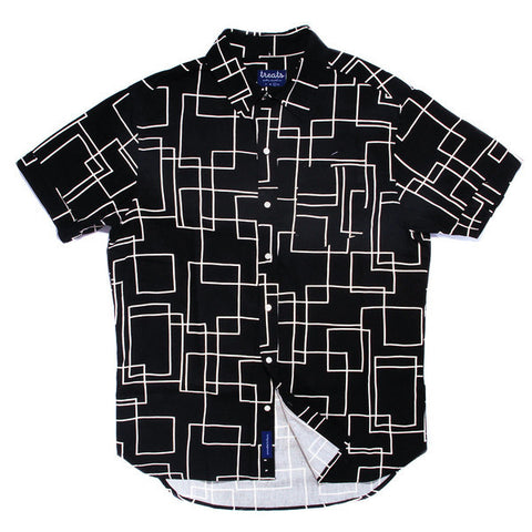 Treats Labyrinth Short Sleeve Button Down Shirt