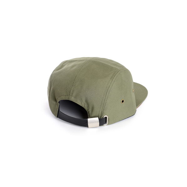 Polyester (Army Green with Suede contrast) 5-Panel Hat