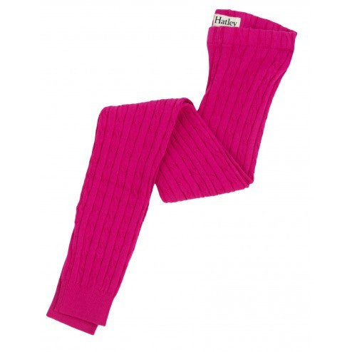 Hatley Cable Knit Tights - Magenta Lotus - Eloquence Boutique
