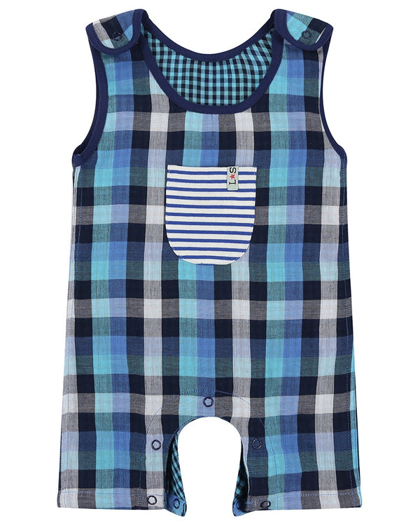 Lilly + Sid Dungaree - Blue Check