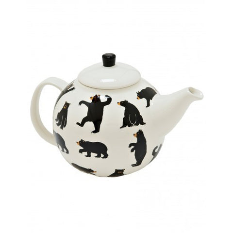 Hatley Tea Pot  - Bears on Natural - Eloquence Boutique