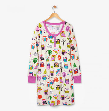 Hatley Night Dress - Party Owls
