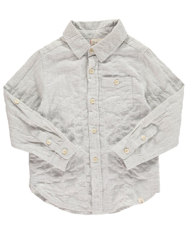 Me & Henry Shirt - Grey Woven