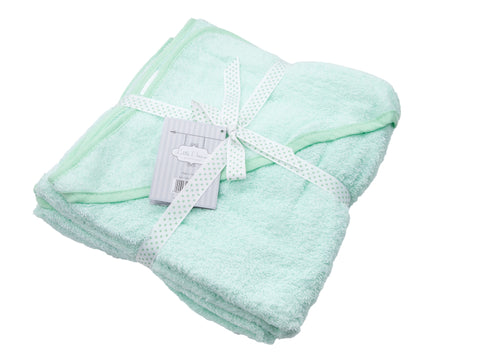 Baby Bow Hooded Towel - Mint - Eloquence Boutique