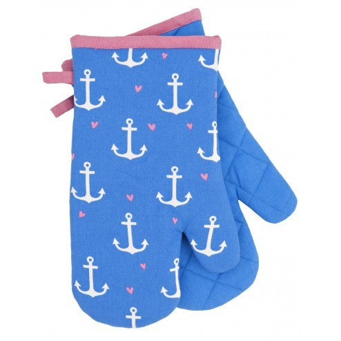 Oven Mitts - Anchors - Eloquence Boutique