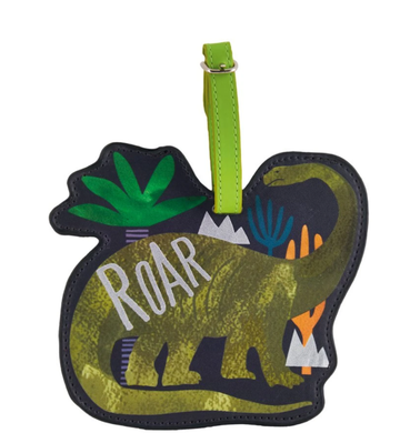 Floss & Rock Bag Tags - Dinosaur