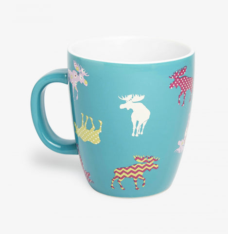 Hatley Coffee Mug - Patterned Moose - Eloquence Boutique