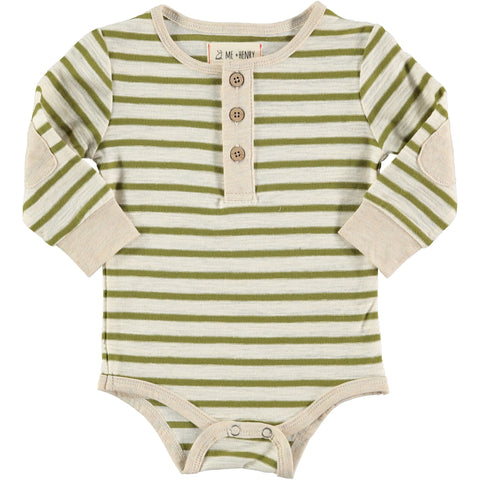Me & Henry Bodysuit - Olive Stripe - Eloquence Boutique