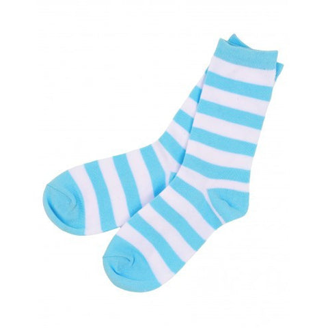 Hatley Womens Crew Socks - Blue Stripe - Eloquence Boutique