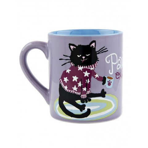 Hatley Coffee Mug - Pawsitively Exhusted - Eloquence Boutique