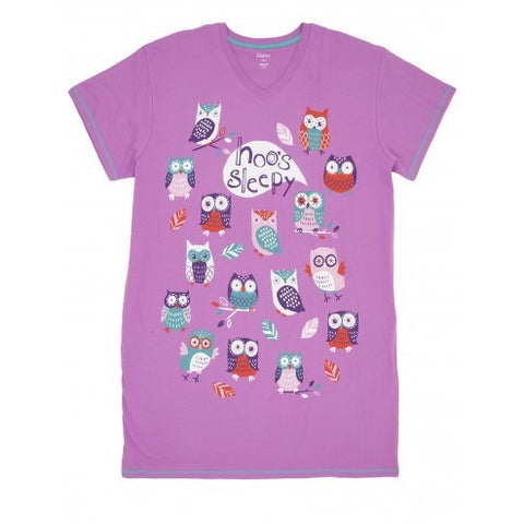 Hatley Sleepshirt - Hoo's Sleepy - Eloquence Boutique