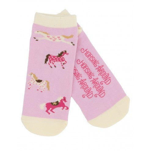 Hatley Womens Ankle Socks - Horsing Around - Eloquence Boutique