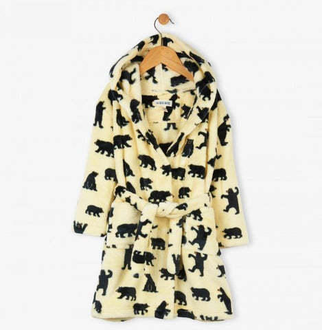 Hatley Dressing Gown - Bears on Natural - Eloquence Boutique