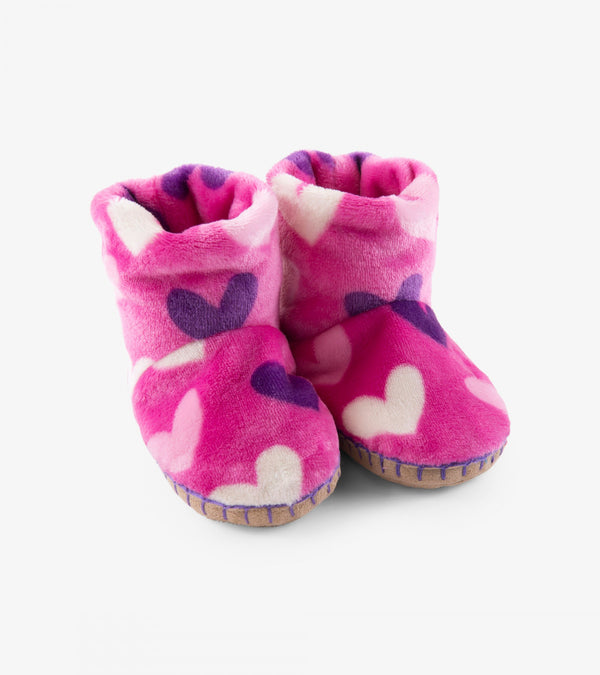 Hatley Slippers - Multi Hearts - Eloquence Boutique