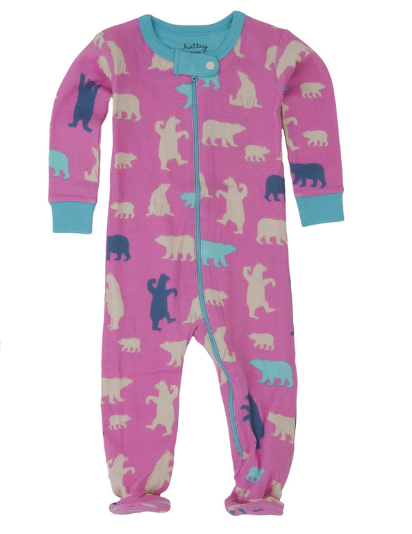 Hatley Footed Coverall - Polar Bear - Eloquence Boutique