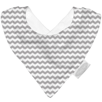 Silly Billyz Bandana Bib - Grey Chevron