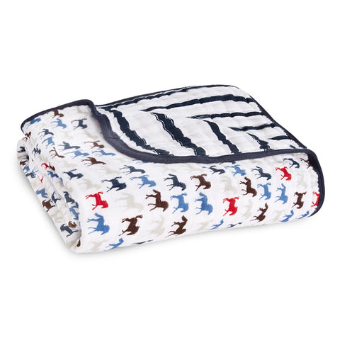 Aden + Anais Dream Blanket - Wild Horses - Eloquence Boutique