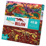 Crocodile Creek Floor Puzzle - Above And Below Dinosaur World