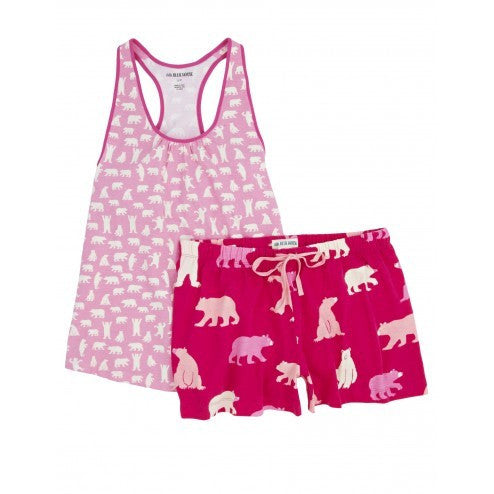 Hatley Womens Pyjamas - Fuchsia Bears - Eloquence Boutique