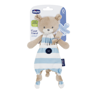 Chicco Soother Holder - Blue Bear