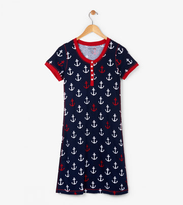 Hatley Night Dress - Graphic Anchors