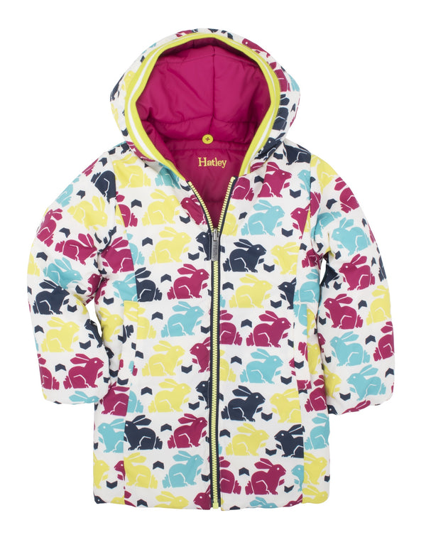 Hatley Reversible Puffer - Nordic Bunnies - Eloquence Boutique