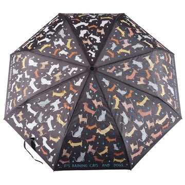 Floss & Rock Colour Change Umbrella - Cats & Dogs