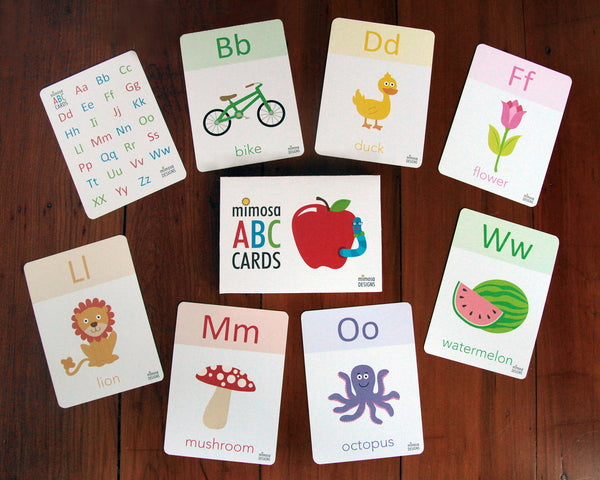 Mimosa Flash Cards - ABC - Eloquence Boutique