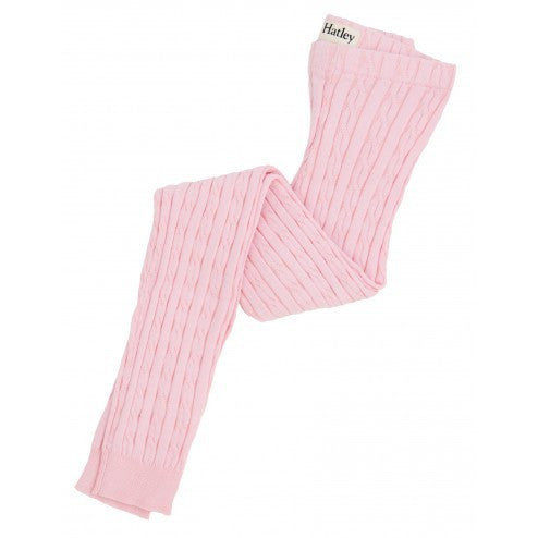 Hatley Cable Knit Tights - Soft Pink - Eloquence Boutique