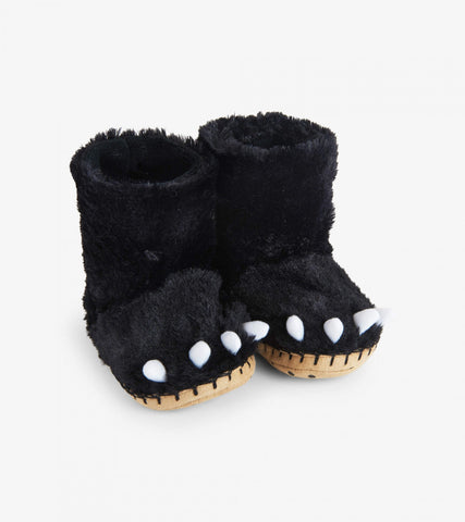 Hatley Slippers - Black Bear Paws
