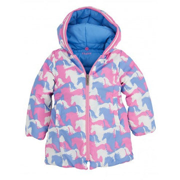 Hatley - Puzzle Piece Horses Reversible Puffer