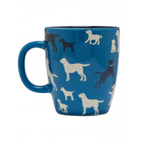 Hatley Coffee Mug - Labs on Blue - Eloquence Boutique