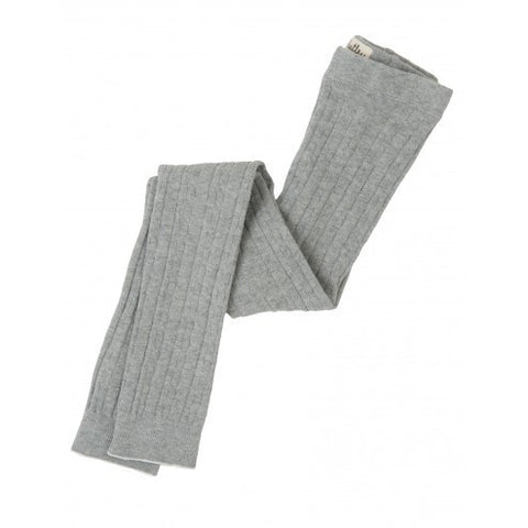 Hatley Cable Knit Tights - Grey - Eloquence Boutique