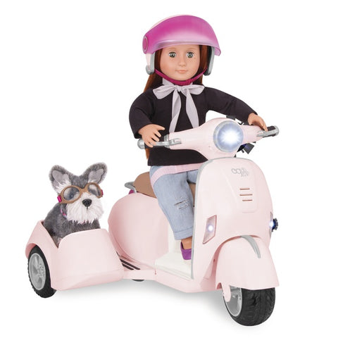 Our Generation Dolls -  Ride along Scooter with Side Car - Eloquence Boutique