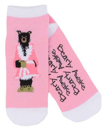 Hatley Womens Ankle Socks - Bearly Awake - Eloquence Boutique