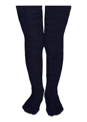 Lamington Merino Tights - Navy