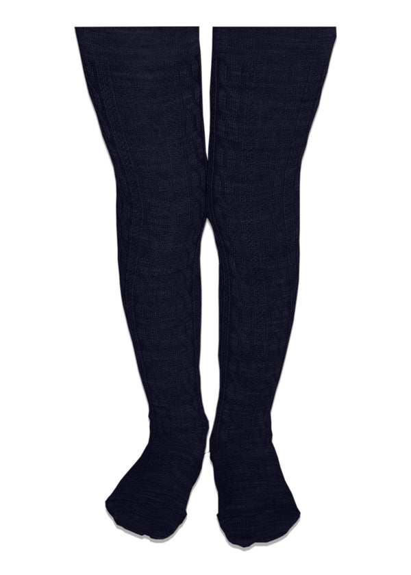 Lamington Merino Tights - Navy - Eloquence Boutique