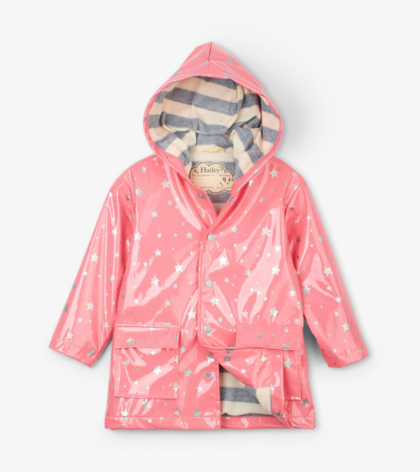 Hatley Raincoat - Metallic Stars