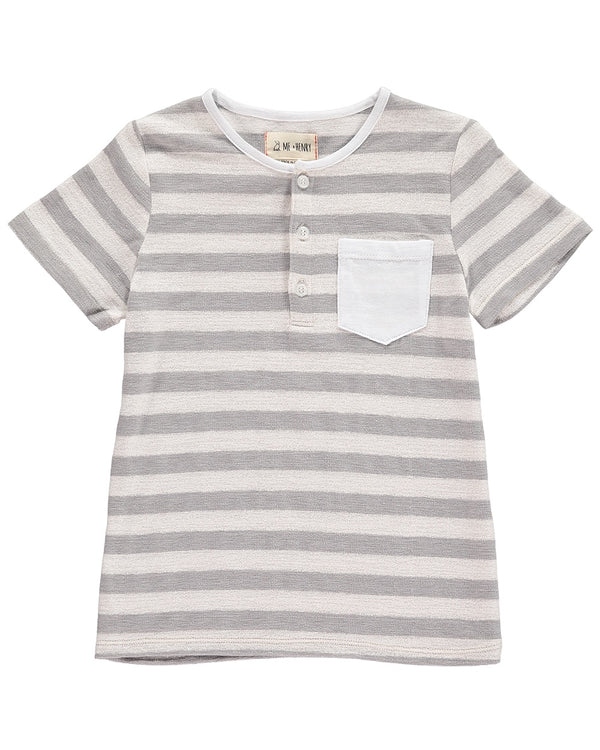 Me & Henry Tee - Grey Stripe