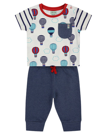 Lilly + Sid Tee & Pants Set - Hot Balloons