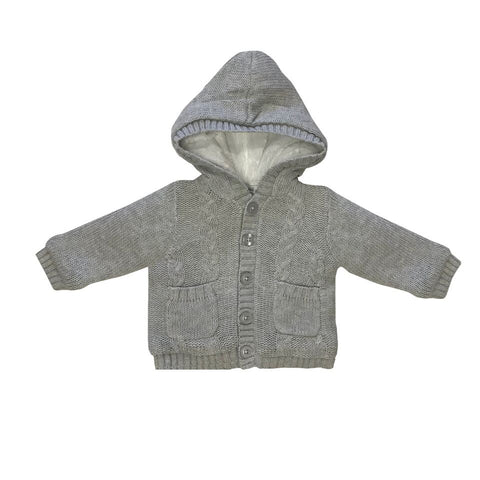 Beanstork Cardigan - Grey Cable