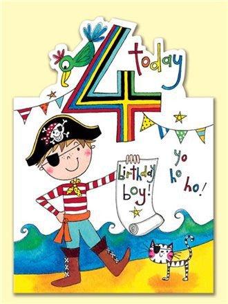Card - Pirate 4th Birthday - Eloquence Boutique
