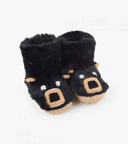 Hatley Slippers - Black Bear