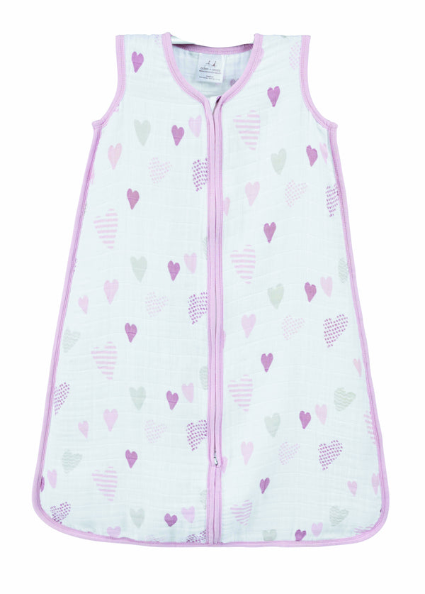 Aden+Anais Sleeping Bag 1.0 TOG - Heart Breaker - Eloquence Boutique