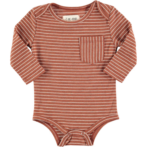 Me & Henry Bodysuit - Brown Stripe - Eloquence Boutique